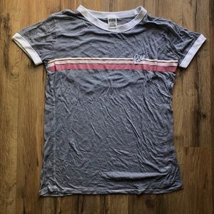 PINK Heavily Distressed Tee
